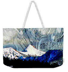 Sheep's Head Peak April Snow II Weekender Tote Bag by Anastasia Savage Ealy