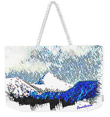 Sheep's Head Peak April Snow Weekender Tote Bag by Anastasia Savage Ealy