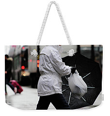 Weekender Tote Bag featuring the photograph Sheild Of Rain  by Empty Wall