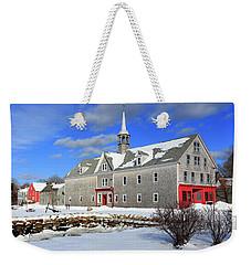 Shelburne, Nova Scotia In Winter Weekender Tote Bag