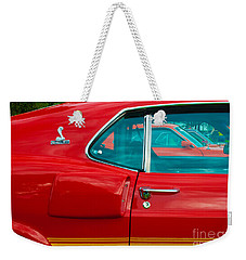 Red Shelby Mustang Side View Weekender Tote Bag