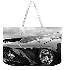 Shelby Super Snake Mustang Grille And Headlight Weekender Tote Bag by Gill Billington