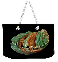 Green And Brown Shell Weekender Tote Bag