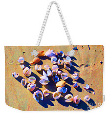 Weekender Tote Bag featuring the photograph Shell Collection by Roberta Byram