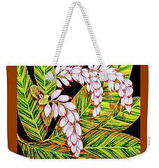 Shell Ginger Flowers Weekender Tote Bag