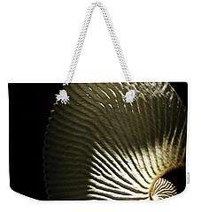 Seashell Fan On Black  Weekender Tote Bag