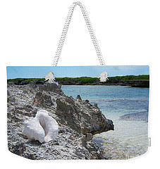 Shell On Dominican Shore Weekender Tote Bag by Heather Kirk