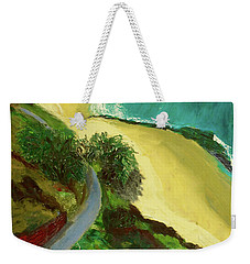 Weekender Tote Bag featuring the painting Shelly Beach by Paul McKey