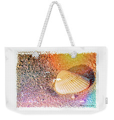 Weekender Tote Bag featuring the photograph Shelling Out by Marvin Spates