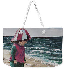 Weekender Tote Bag featuring the painting Shello by Jack Skinner