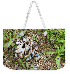 Weekender Tote Bag featuring the photograph Shells Of Freshwater Mussels by Michal Boubin