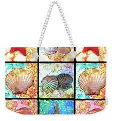 Shells X 9 Weekender Tote Bag by Alene Sirott-Cope
