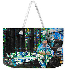 Weekender Tote Bag featuring the mixed media Shelter by Tony Rubino
