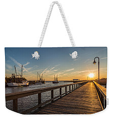 Shem Creek Pier Sunset - Mt. Pleasant Sc Weekender Tote Bag