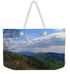 Weekender Tote Bag featuring the photograph Shenandoah Skies by Lynda Lehmann