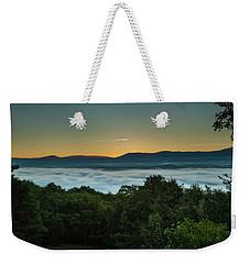 Weekender Tote Bag featuring the photograph Shenandoah Sunrise Pre-dawn Glow by Lara Ellis