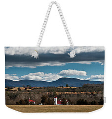 Shenandoah Valley Farm Winter Skies Weekender Tote Bag
