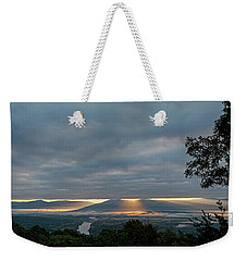 Weekender Tote Bag featuring the photograph Shenandoah Valley First Light by Lara Ellis