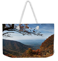 Shenandoah Valley From The Mountain Top Weekender Tote Bag by Lara Ellis
