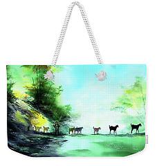 Weekender Tote Bag featuring the painting Shepherd by Anil Nene