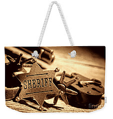 Sheriff Tools Weekender Tote Bag by American West Legend By Olivier Le Queinec