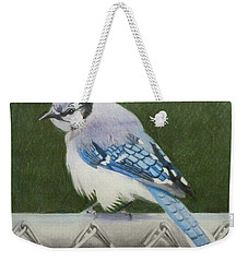Sherrie's Bluejay Weekender Tote Bag by Constance DRESCHER
