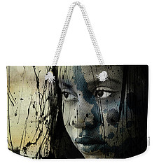 Weekender Tote Bag featuring the mixed media She's Out Of My Life  by Paul Lovering