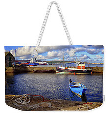 Shetland Boats Weekender Tote Bag by Lynn Bolt