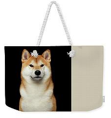 Shiba Inu Weekender Tote Bag by Sergey Taran