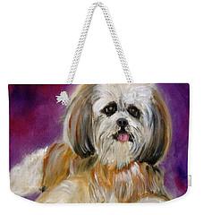 Shih-tzu Puppy Weekender Tote Bag by Jenny Lee