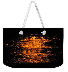 Weekender Tote Bag featuring the photograph Shimmer by Linda Hollis
