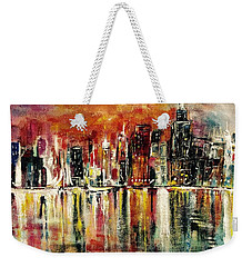 Shimmering City Night Lights Weekender Tote Bag