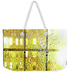 Weekender Tote Bag featuring the mixed media Shine A Light by Tony Rubino