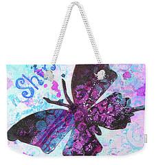 Shine Butterfly Weekender Tote Bag