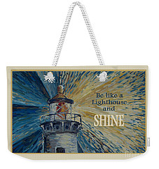 Weekender Tote Bag featuring the painting Shine by Maria Langgle