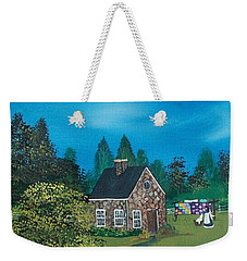 Weekender Tote Bag featuring the painting Shine On by Virginia Coyle