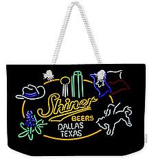 Shiner Beers Dallas Texas Weekender Tote Bag