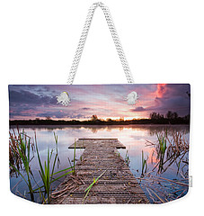 Shinewater Lake Sunrise Weekender Tote Bag
