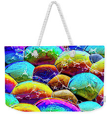 Weekender Tote Bag featuring the photograph Shiney Bubbles by Jean Noren