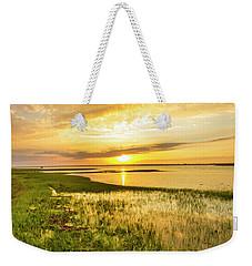 Shinnecock Bay Wetland Sunset Weekender Tote Bag