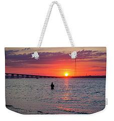Shinnecock Fisherman At Sunset Weekender Tote Bag