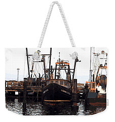 Weekender Tote Bag featuring the digital art Shinnecock Painting by  Newwwman