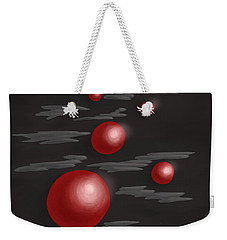 Shiny Red Planets Weekender Tote Bag