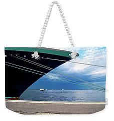 Ship At Anchor In Rio Weekender Tote Bag