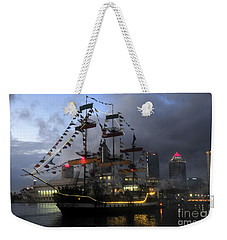 Ship In The Bay Weekender Tote Bag by David Lee Thompson