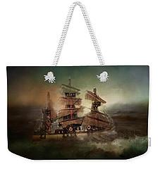 Ship On Troubled Sea Weekender Tote Bag
