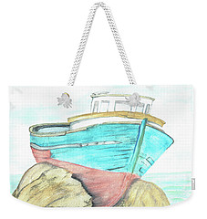 Ship Wreck Weekender Tote Bag by Terry Frederick
