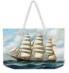 Ship Young America At Sea Weekender Tote Bag