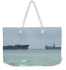 Ships Meet Weekender Tote Bag