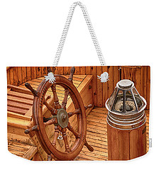 Wheel And Compass Weekender Tote Bag